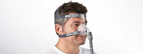Man wearing nasal CPAP Mask